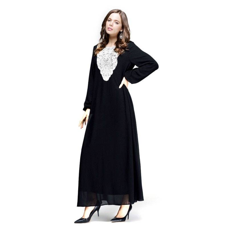 New Women's Elegant Maxi Long Dress Kaftan Jilbab Islamic Abaya Muslim Cocktail PY3
