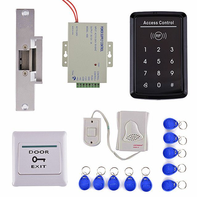 Door Switch Button +DoorBell + RFID EM Card Access Control Security System Kit For Home Use