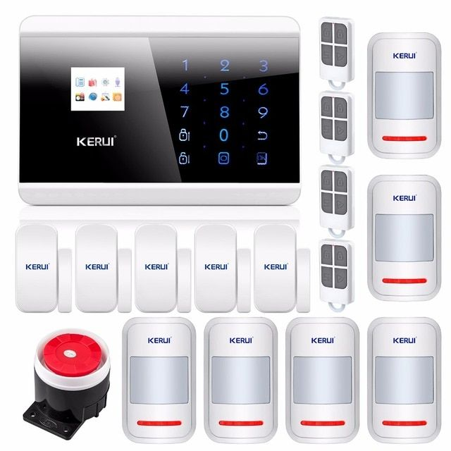 KERUI APP IOS Wireless GSM Home Alarm Security System Dual Touch Dual APP Controlled English Russian Spanish French Voice