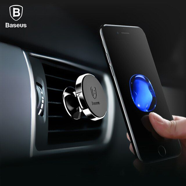 Baseus Magnetic Car Holder For iPhone X 8 Samsung S9 S8 360 Degree Air Vent Mount Phone Holder Soporte Movil Car Phone Holder