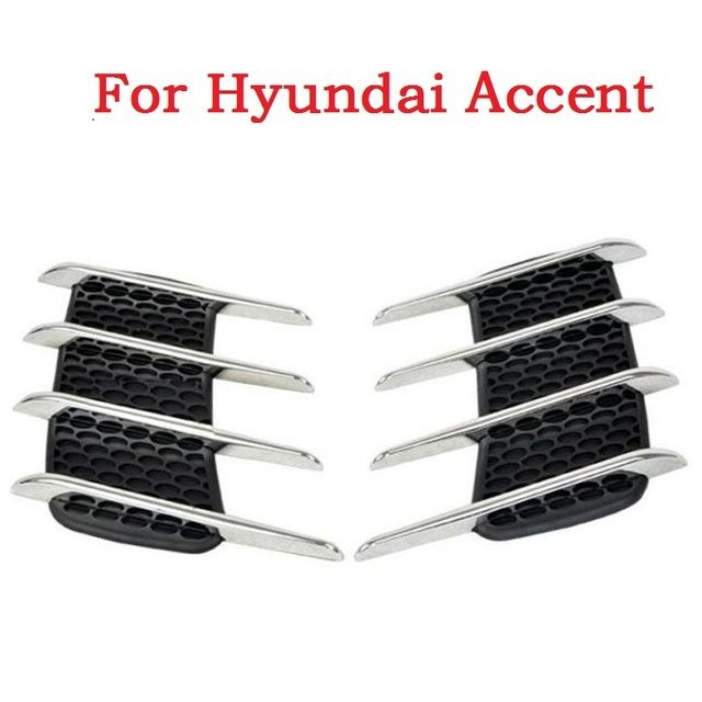 2017 Car Side Bonnet Air Vent Grill Decoration outlet decorative stickers Euro Cuct Side Door Auto for Hyundai Accent