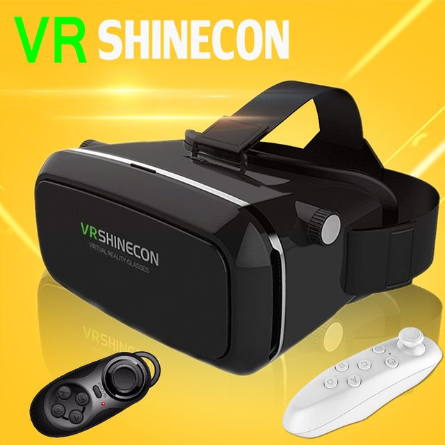 VR Shinecon VR Virtual Reality 3D Glasses +Smart Bluetooth Wireless Remote Control Gamepad For 4.0 - 6.0 inch Smartphone