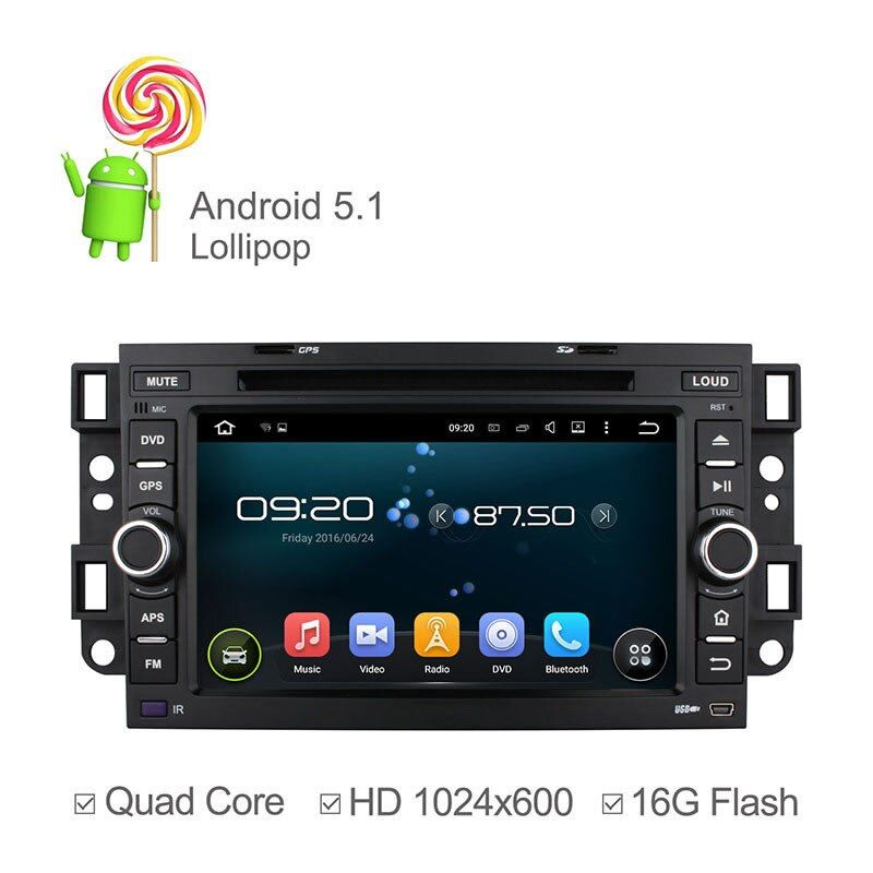 1024*600 Quad Core Car DVD for Chevrolet Captiva Epica Lova Aveo Spark 2002 - 2011 with Android 5.1.1 GPS Bluetooth Radio