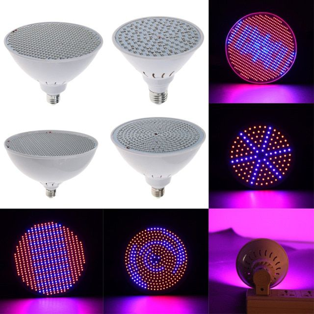 Red+Blue LED Plant Grow Light Lamps E27 AC85~265V LED Hydroponics Lamps