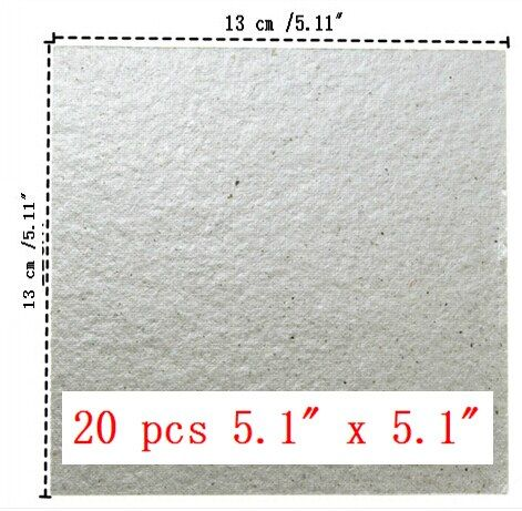 20pcs/lot  Microwave Oven Mica Plate Sheet Thick Replace Part 13 cm x 13 cm / 5.11'' x 5.11''