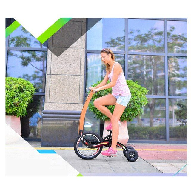 parent-child twin tricycle for exercise,3 wheel bike seatless hover bicycle halfbike
