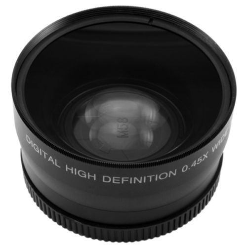 FOTGA 58mm 0.45x Wide Angle Macro Conversion Lens 0.45x 58 For CANON NIKON SONY 58MM LENS