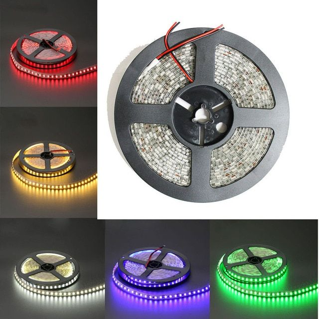 1M ip65 Waterproof  Fiexble Led Strip Light SMD5630/5050/3528/3014 12V Led Tap Ribbon White/Warm White/Yellow/Red/Green/Blue/RGB