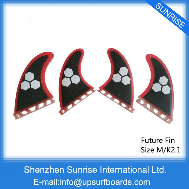 Future G5+K2.1 Fin Honeycomb Surf Quad Fins in Surfing Surfboard Fin Quilhas Free Shipping