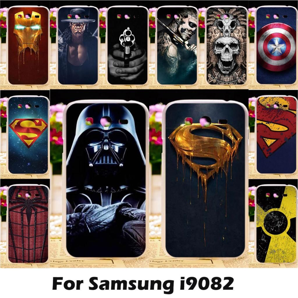 Ojeleye Mobile Phone Cases For Samsung Galaxy Grand I9082 I9080 Grand Z I9082Z Grand Neo Plus Cover Bumper TPU Superman Bags