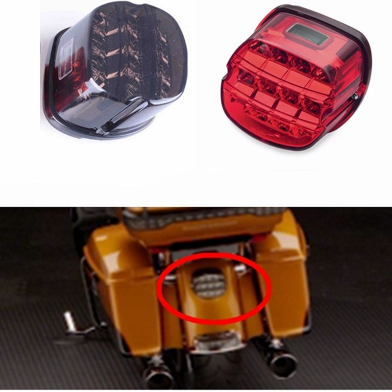 Free shipping! For Harley Accessories LED Tail Lamp fit for Harley Dyna Super Wide Glide Low Rider Fat Bob