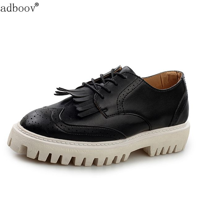 cheap mans England Brogue style casual shoes flat platform lace-up Tassel quality heighten carving skidproof flatform shoes men