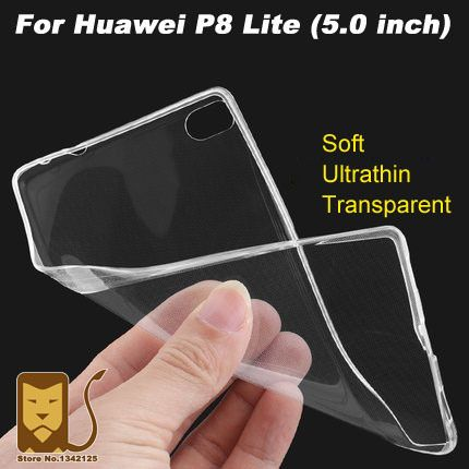Case For Huawei P8 Lite Phone Case Cover Ultrathin Transparent TPU Soft Cover Protective Case For Huawei P8 Lite Back Cover Case