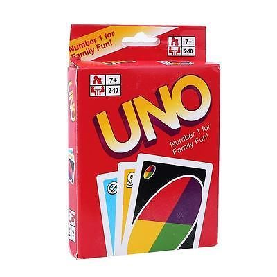 new arrival Standard Fun 108 UNO Playing Cards Game For Travel Family Friend Instruction