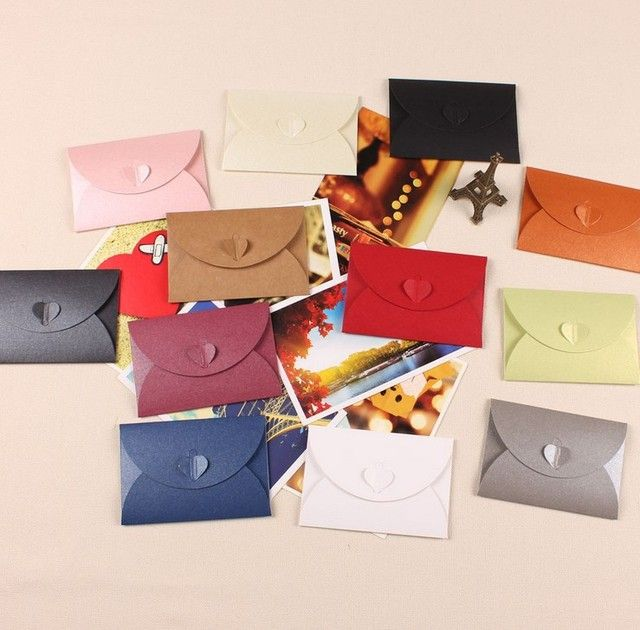 10pcs/set colored envelopes for invitations weeding envelope 105mm*72mm paper envelopes wedding invitation envelope
