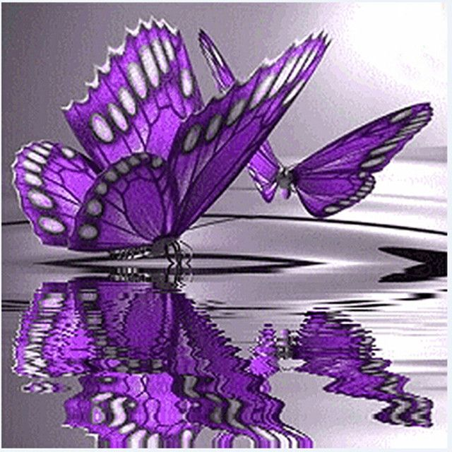 Hot Product Butterfly Flowers Diamond Embroidery 5D Diamond DIY Painting Cross Stitch Crafts Home Decals 3d Wall Stickers