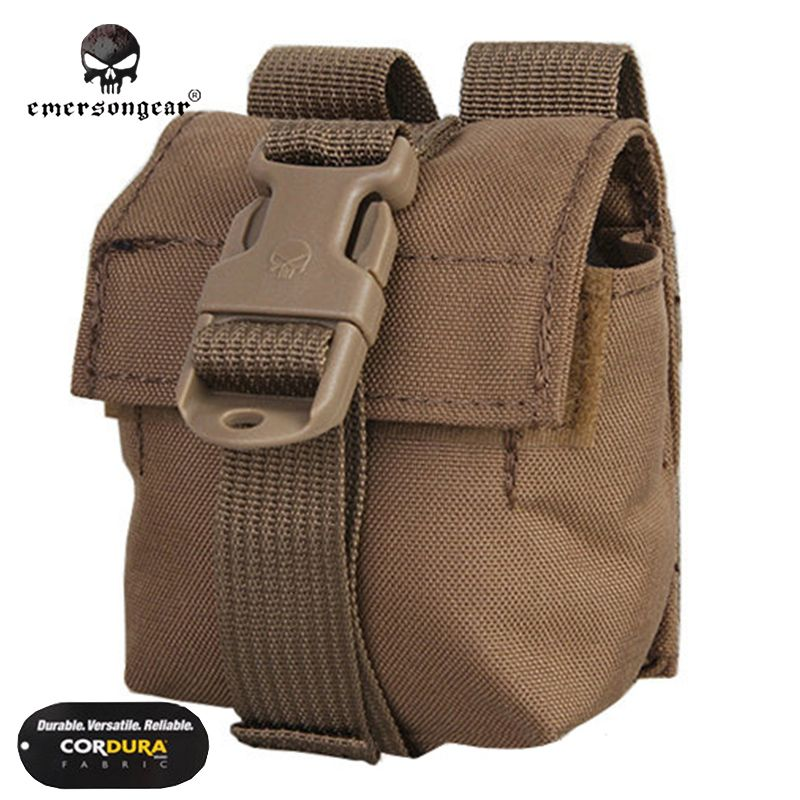 Emersongear LBT Style Single Frag Pouch Emerson Molle Hunting Airsoft Paintball Combat Gear EM6369 Multicam Coyote Khaki pouches