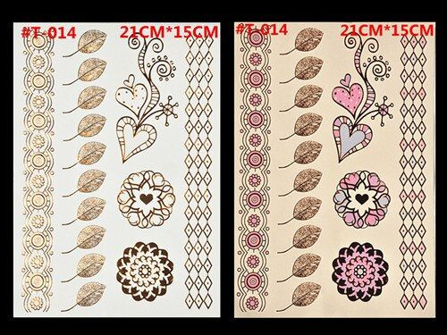 Wholesale metal body paint temporary tattoo flash fluorescent colored tattoo stickers Body Art Tattoo India Women