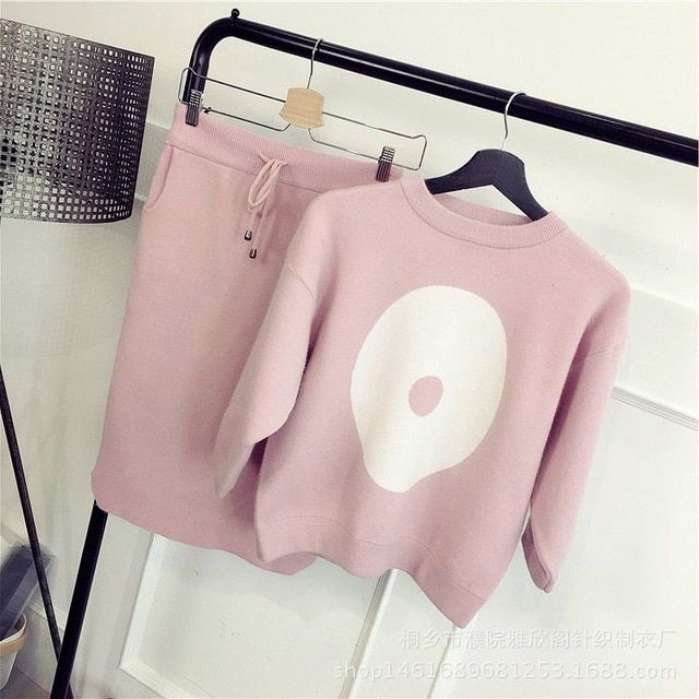 Fashion suit two - piece sweater women suits coat 2016 new tide package sets hip women 's new autumn and winter sweater sets
