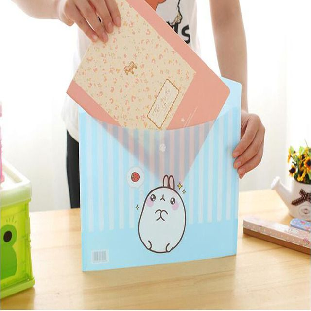 Paper Bags Autumn New Korean Version of The Cute Cartoon Molang A4 File Paper Bags of Potatoes In Rabbits School Supplies 7.50