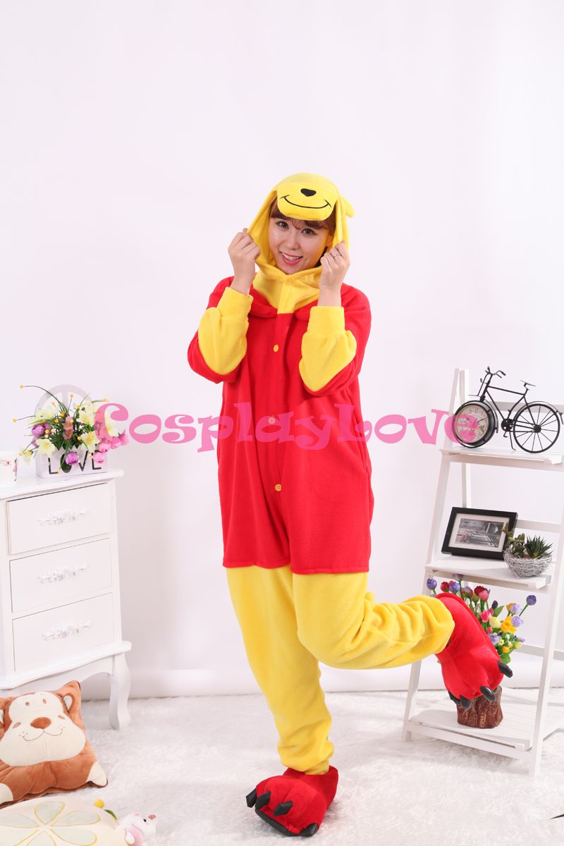 Cute Bear Pajamas Animal Cosplay Costume Coral Girls Boys Adult Kid Pajamas Onesies Cartoon Halloween Sleepwear Sleepsuit