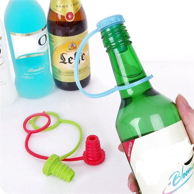 2 PCS Vanzlife Food-grade Silicone Small Hat Fresh Beer Bottle Stopper Wine Stopper Cork Cruet Dids Bottle Caps Closures