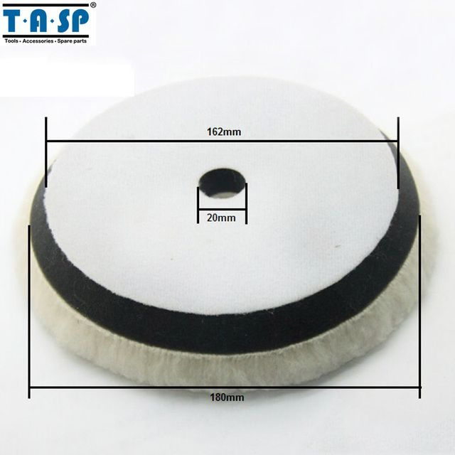 TASP 180mm Wool Polishing Pad Buffing Wheels for Car Polisher