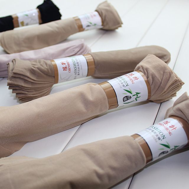 10 pairs / lot Hot Sale summer style silk socks women low price cool feeling solid color Breathable sexy skin sock free shipping