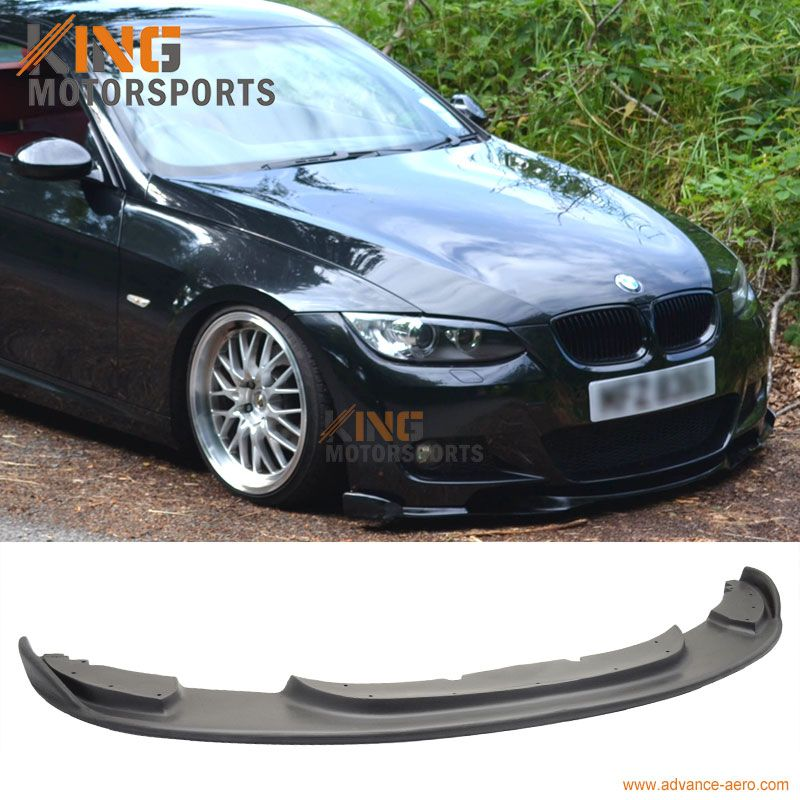 For 07-10 BMW E92 FRONT BUMPER LIP H-STYLE M-TEC ONLY URETHANE