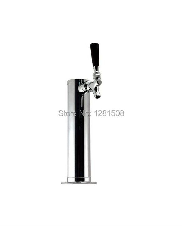 Single Tap/Faucet beer tower stainless steel body with brass beer tap
