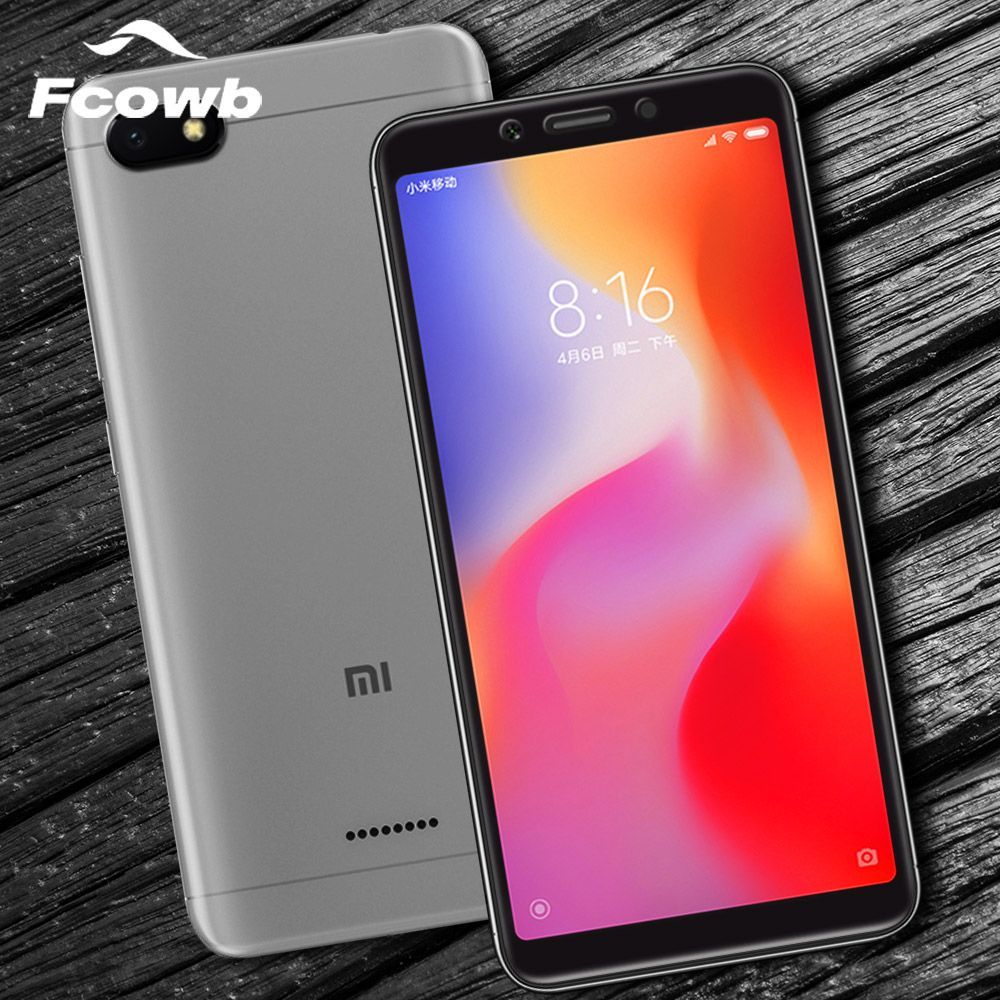 FCOWB For Xiaomi Redmi 6 Tempered Glass 0.3mm 5D 9H Full Cover Full Screen Protector Glass For Xiaomi Redmi 6A Tempered Glass