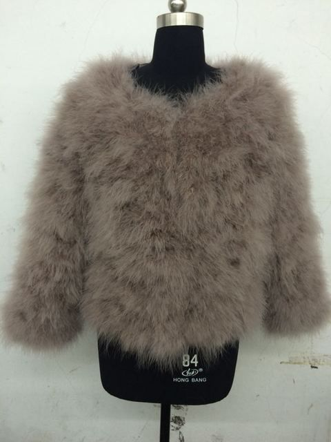 2016 ostrich fashion fur coat (can make any size)