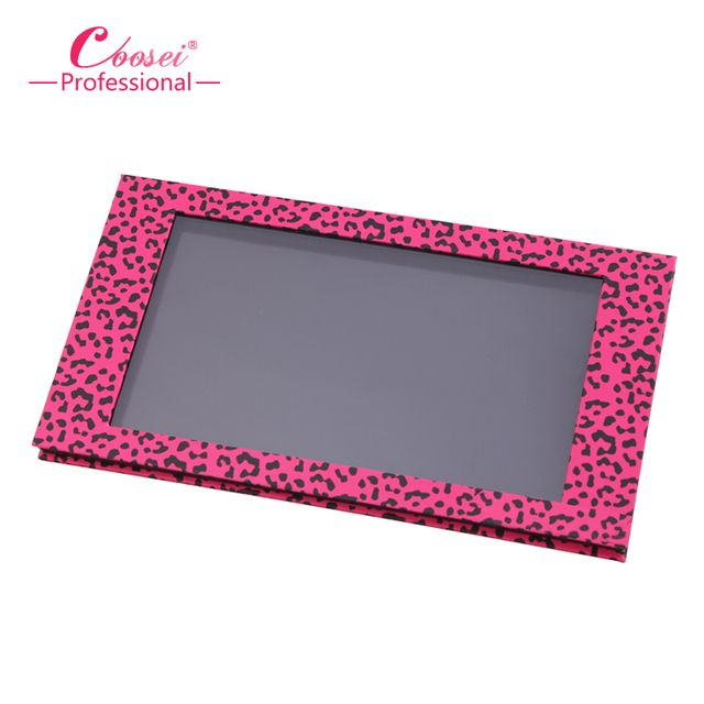 Empty Magnetic Eyeshadow Palette,Big Pink Leopard Professional DIY Makeup Storage Box ,Fill 18*36mm pans