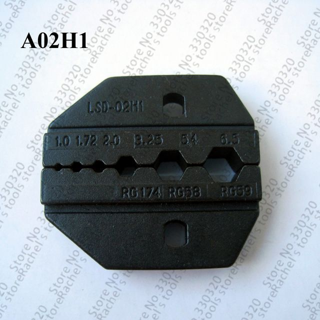 A02H1 crimping die for RG58,RG59 coaxial cable and connector