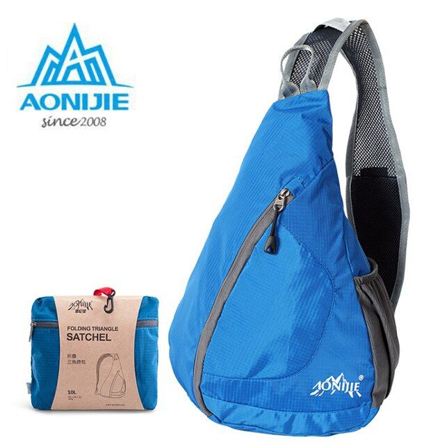 AONIJIE New Men Women Shoulder Triangle Sports Backpack Collapsible Water Repellent Nylon Sport Climbing Bag