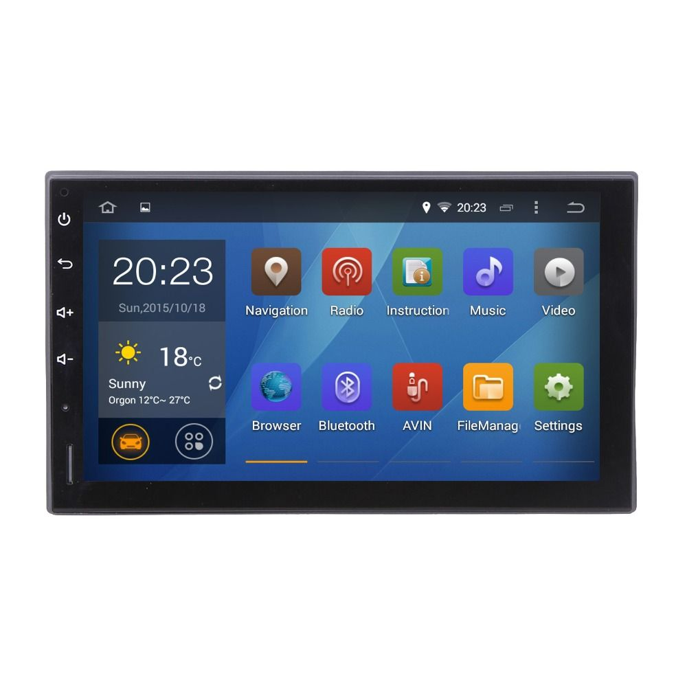 Android 7.1 Head Unit GPS NAVI Universal TIIDA X-trail Frontier sentra MP300 Micra Livina headunit Radio WIFI browser Free map
