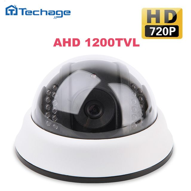 Techage 1.0MP 1280*720P Waterproof Mini CCTV Camera AHD 1200TVL Indoor 2.8mm Dome IR ONVIF Home Security Video Surveillance Cam