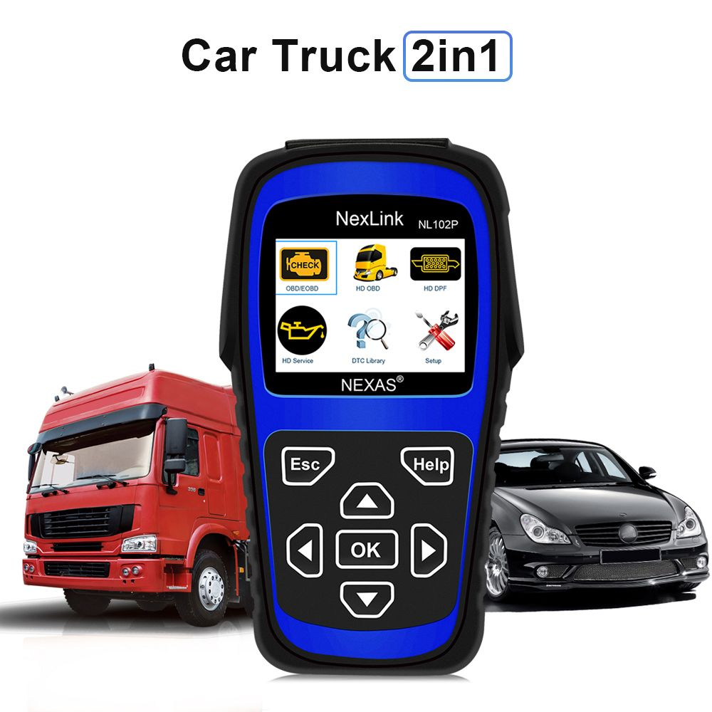 2018 New Truck Diagnostic Tool NL102P DPF/Oil Reset for Diesel Heavy Duty Truck Scanner Car Diagnosis 2 in 1 Code Scan Tool