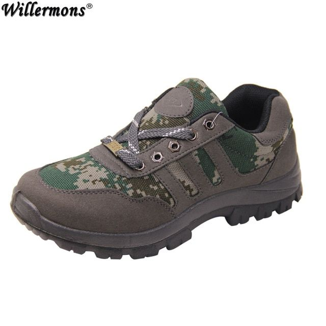 2016 Summer Men's Casual Low Jungle Camouflage Military Tactical Boots Shoe Men Waterproof Combat Army Boots Botas Hombre Tenis
