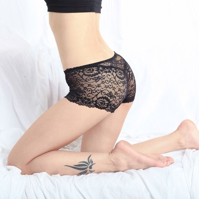Nice Lady's Transparent Tangas Knickers Boxer Underwear Panty Lace Floral Briefs Newest