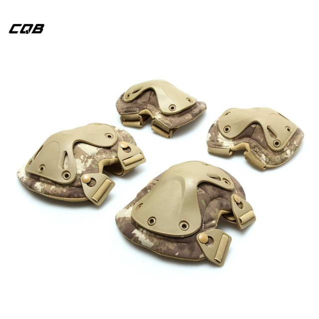 CQB Outdoor Sports Camping Hiking Tactical Military Men's Wrist Protect Knee Elbow Protector for Cycling Adult Pads