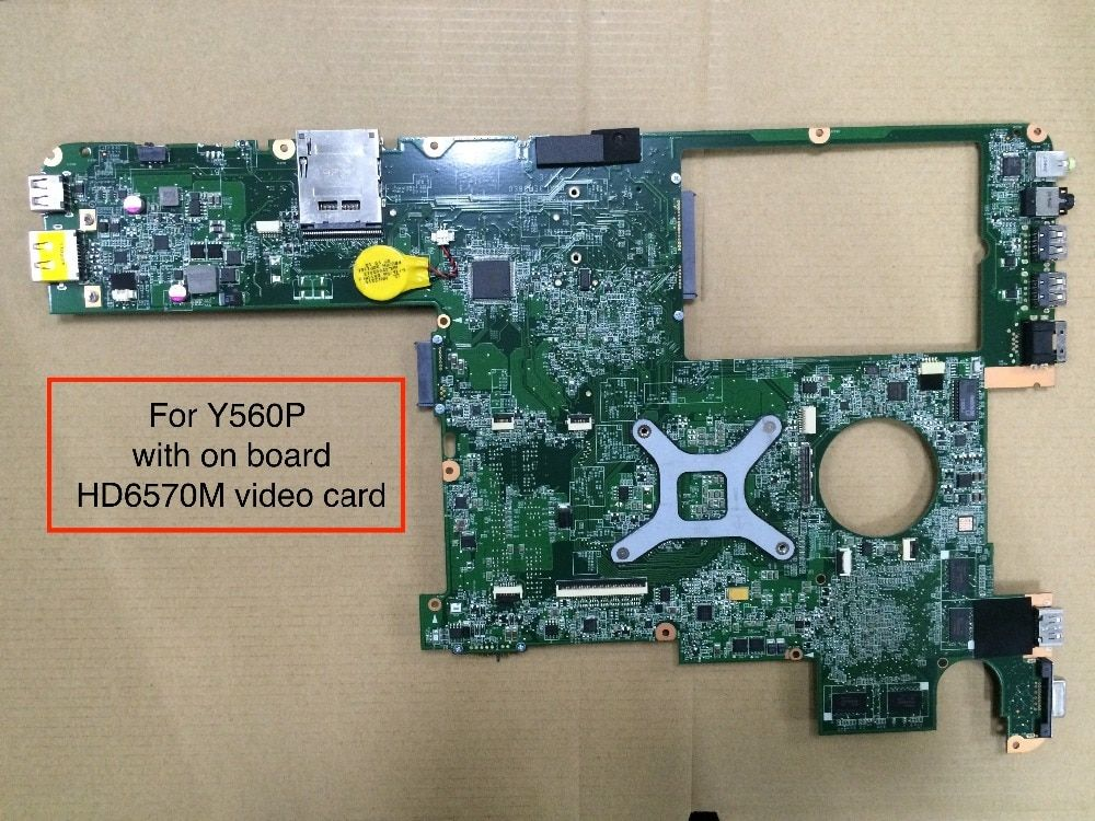 Original For Lenovo Y560P Laptop Motherboard DAKL3EMB8E0 Rev E with AMD HD6570M video card