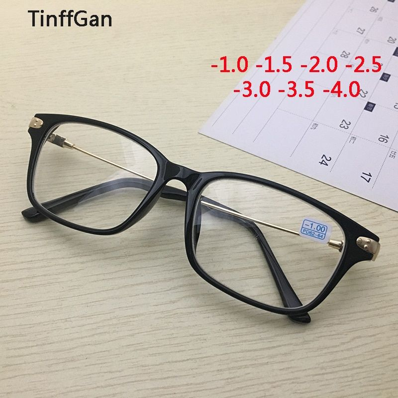 TinffGan Finished Myopia glasses 2019 Men Women prescription eyeglasses Optical Eyewear glasses for sight Black -1 -1.5 -2 -3 -4
