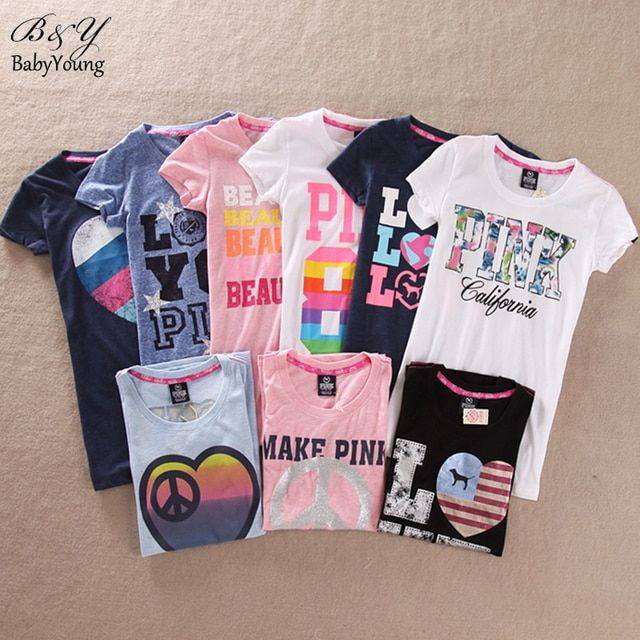 New 2016 Fashion Summer Women Tops Pink Victorian T Shirt Short-Sleeve O-Neck Slim T-Shirt Woman Tee Shirts