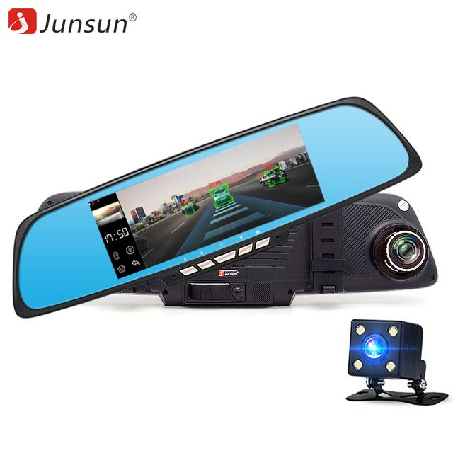 "Junsun Car DVR Camera 6.86"" Android GPS FHD 1080P WIFI Dual Lens Rearview Mirror Video Recorder Automobile DVR Mirror Dash cam"