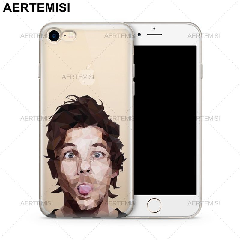 Aertemisi Phone Cases One Direction 1D Louis Tomlinson Clear Soft TPU Case Cover for iPhone 5 5s SE 6 6s 7 8 Plus X