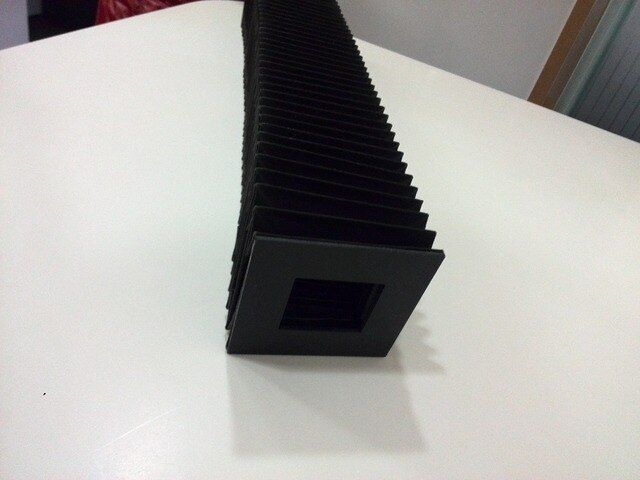 Square accordion flexible cover inside:40mmx40mm,outside:80mmx80mm,Lmax:600mm
