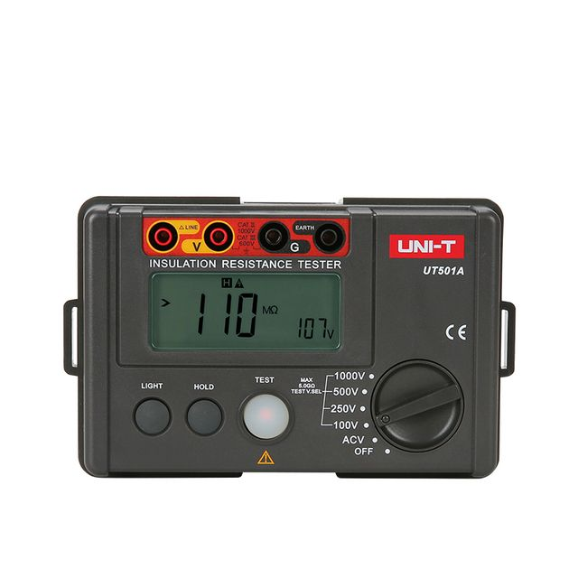 UNI-T UT501A 100V Insulation Resistance Testers Earth Ground Megohmmeter Voltmeter w/LCD Backlight Digital Earth Testers Megger