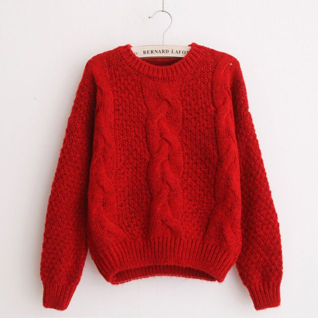 Women Sweaters Warm Pullover Jumpers Crewneck Mohair Pullover Twist Pull Jumpers Autumn 2017 Knitted Sweaters Christmas S629