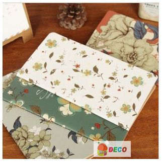 Vintage flower design notebook for writing,gift stationery supplies(SS-1445)